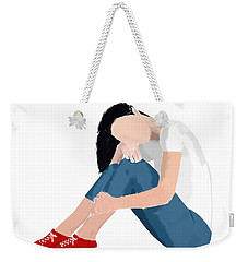 Weekender Tote Bag featuring the digital art Aubrey by Nancy Levan