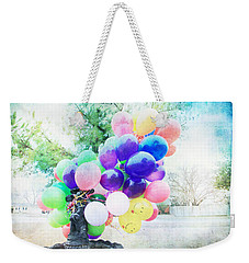 Smiley Face Balloons Weekender Tote Bag by Toni Hopper
