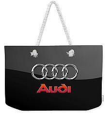 Audi 3 D Badge On Black Weekender Tote Bag