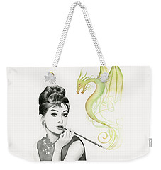 Audrey And Her Magic Dragon Weekender Tote Bag by Olga Shvartsur