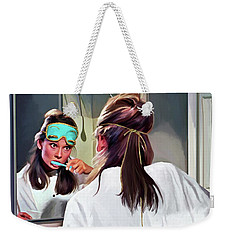 Audrey Hepburn @ Breakfast At Tiffanys #5 Weekender Tote Bag
