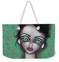Audrey Hepburn Weekender Tote Bag by Abril Andrade Griffith