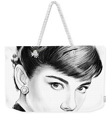 Audrey Hepburn Weekender Tote Bag by Greg Joens