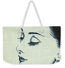 Audrey Hepburn Weekender Tote Bag by Monikas Art
