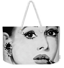 Audrey Hepburn Mural  Weekender Tote Bag by Yurix Sardinelly