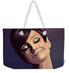 Audrey Hepburn Painting Weekender Tote Bag by Paul Meijering