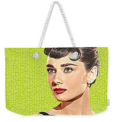 Audrey Hepburn_popart06-3 Weekender Tote Bag by Bobbi Freelance