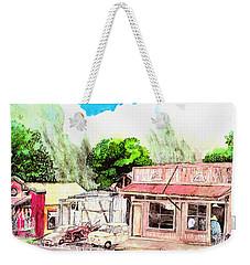Auggies Pool Hall Weekender Tote Bag by Eric Samuelson