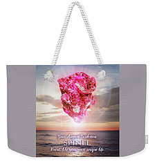 August Birthstone Spinel Weekender Tote Bag