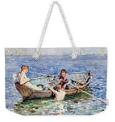 August Blue Weekender Tote Bag