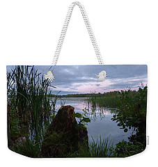 August Evening At The Lake Enajarvi Weekender Tote Bag