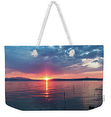 Weekender Tote Bag featuring the photograph August Eye by Jan Davies