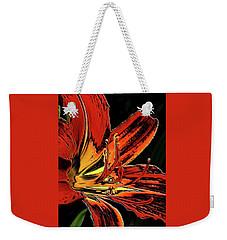 August Flame Drama Weekender Tote Bag