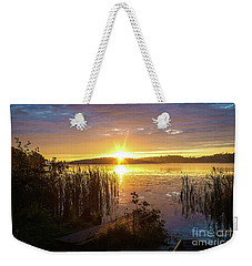 August Morning At The Lake Enajarvi Weekender Tote Bag