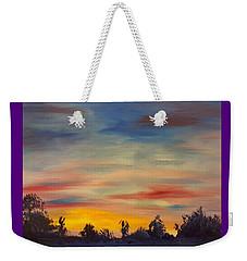 August Sunset In Sw Montana Weekender Tote Bag