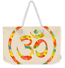 Aum Symbol Abstract Digital Painting Weekender Tote Bag by Georgeta Blanaru