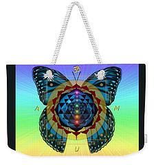 Weekender Tote Bag featuring the digital art AUM by Vincent Autenrieb