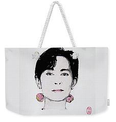 Aung San Suu Kyi Weekender Tote Bag by Roberto Prusso
