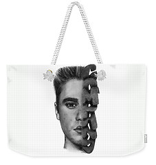 Justin Bieber Drawing By Sofia Furniel Weekender Tote Bag