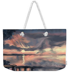 Weekender Tote Bag featuring the painting Aunt Jo by Jean Pacheco Ravinski