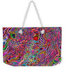 Aura Lights Weekender Tote Bag by Roxy Riou