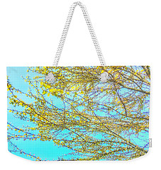 Weekender Tote Bag featuring the photograph  Aura Of Springtime by Connie Handscomb