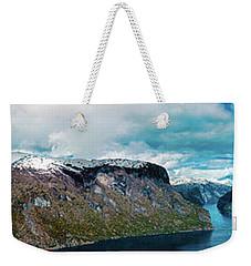 Aurlandsfjorden Panorama Revisited Weekender Tote Bag