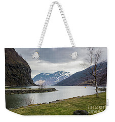 Weekender Tote Bag featuring the photograph Aurlandsfjorden by Suzanne Luft