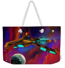 Weekender Tote Bag featuring the painting Auroborus 2015 by James Christopher Hill