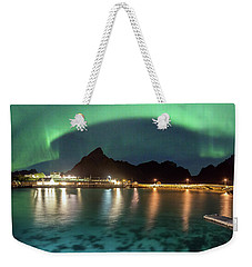 Aurora Above Turquoise Waters Weekender Tote Bag by Alex Conu