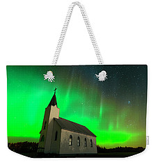 Aurora And Country Church Weekender Tote Bag