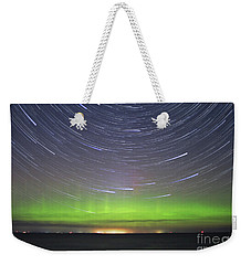 Aurora And Startrails Weekender Tote Bag by Charline Xia