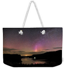 Weekender Tote Bag featuring the photograph Aurora At Lake Billy Chinook by Cat Connor