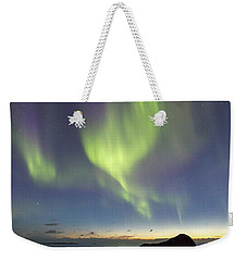 Aurora At Uttakleiv Weekender Tote Bag by Alex Conu