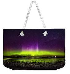 Weekender Tote Bag featuring the photograph Aurora Australis by Odille Esmonde-Morgan