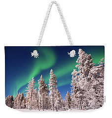 Weekender Tote Bag featuring the photograph Aurora Borealis by Delphimages Photo Creations