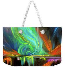 Aurora Borealis Weekender Tote Bag by Jenny Lee
