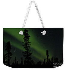 Aurora Borealis The Northern Lights Interior Alaska Weekender Tote Bag