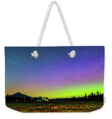 Weekender Tote Bag featuring the photograph Aurora In Sisters by Cat Connor