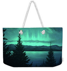 Aurora Over Lake Pend Oreille Weekender Tote Bag