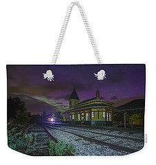 Aurora Over The Crawford Notch Depot Weekender Tote Bag