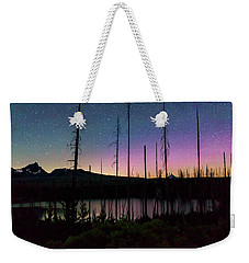 Weekender Tote Bag featuring the photograph Aurora Reflections by Cat Connor