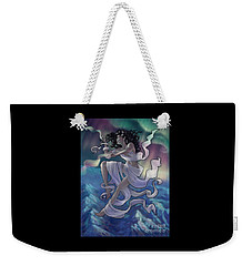 Weekender Tote Bag featuring the digital art Aurora Weaver by Amyla Silverflame