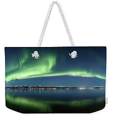 Auroras Over Langoya Island Weekender Tote Bag