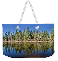 Weekender Tote Bag featuring the photograph Ausable Reflections 1768 by Michael Peychich