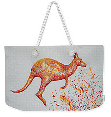 Aussie Roo Weekender Tote Bag by Tamyra Crossley