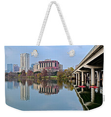 Austin Across Lady Bird Lake Weekender Tote Bag by Frozen in Time Fine Art Photography