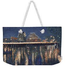 Austin At Night Weekender Tote Bag