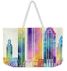 Austin Landmarks Watercolor Poster Weekender Tote Bag