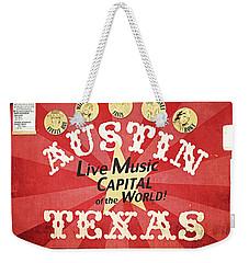 Austin Live Music Weekender Tote Bag by Trish Mistric